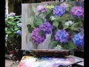 How to Paint Hydrangeas. Katya Held's Alla Prima Oil Painting Demonstration
