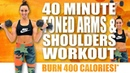 40 Minute TONED ARMS AND SHOULDERS WORKOUT 🔥BURN 400 CALORIES!* 🔥with Sydney Cummings