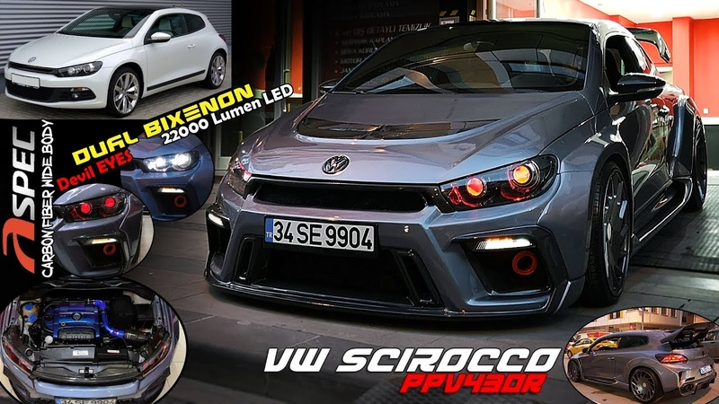 VW Scirocco   Wide Body Kit Çift Mercekli Farlar \\ Devil Eyes - Modifiye