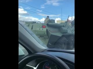 БТР на дорогах Краснодара
