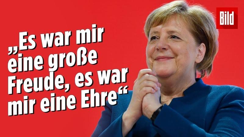 Sie kämpfte mit den Tränen: Angela Merkels letzte Worte als CDU-Chefin