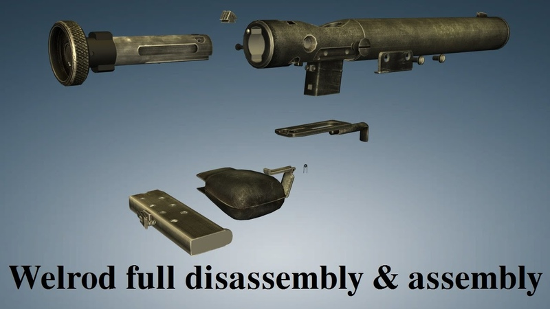 Welrod: full disassembly assembly