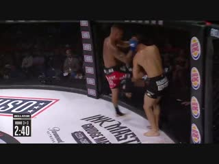 #BellatorSalutes results: Toby Misech def. Edward Thommes via TKO (knee, punches) – Round 3, 2:25