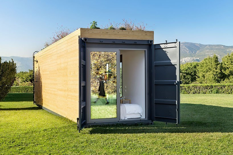cocoon modules   coco-mat envision nomadic dwelling with a container house prototype