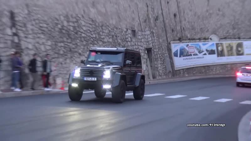 Mercedes G500 4x4² BRABUS G550 acceleration driving in Monaco