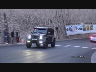 Mercedes G500 4x4² BRABUS G550 acceleration driving in Monaco