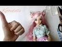 Ободок для куклы bjd minifee своими руками, Hoop for bjd, master class