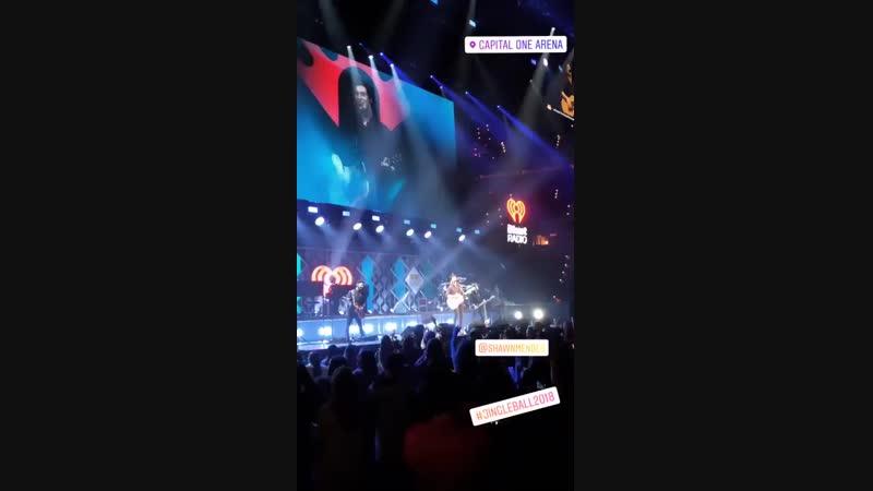 Шон выступает на концерте HOT 99.5 Jingle Ball в Вашингтоне, 11.12.18