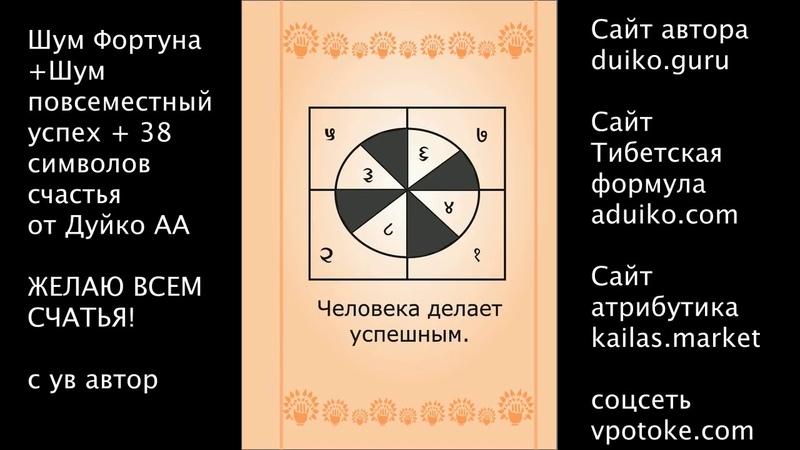 Смотрите на символы слушайте коды и обретете повсеместное везение в жизни !