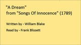 A Dream, from 'Songs Of Innocence', by William Blake