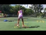 Coach Dabul, tennis training 10 years old player Marcela Roversi. Tennis drills + footwork