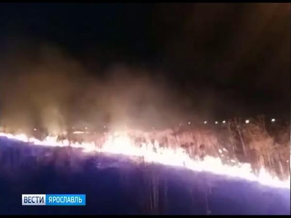 Около 140 травяных пожаров произошло в регионе за минувшие выходные
