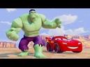 Молния Маквин Тачки 3 Гонки Мультики про Машинки Супергерой Халк Детские Песенки Мультики для Детей