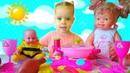 Видео для детей Кукла ЛОЛ готовит на розовой кухне Куклы устроили розовый пикник ВГуВИКИ
