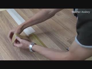 Как сделать невидимый шов в соединении линолеума