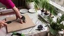 Imprints of Plants Home Decor Tutorial/ Отпечатки растений Декор Мастер-класс