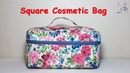DIY Square Cosmetic Bag Makeup Bag Sewing tutorial