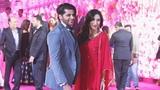 Karanvir Bohra With Wife Teejay At Karim Morani's Son Azhar's Wedding Reception