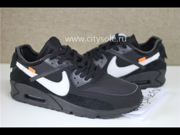 PK God Off White X Air Max 90 Black AA7293 001 Retail Materials Ready to Ship from CitySole ru