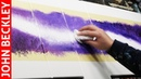 Abstract Painting In Acrylics With Masking Tape and Posca Paint Marker Pen | Purpura