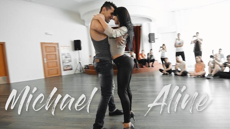 Zouk Dance - Michael Boy Aline Borges Bachaturo Holidays 2017 - Zouk demo improvisation