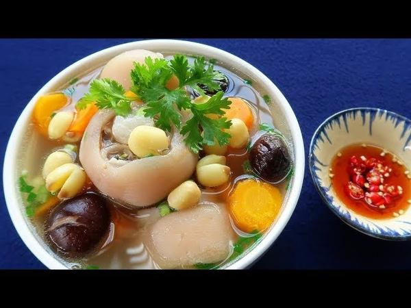 Món Ăn Ngon - CANH GIÒ HEO HẦM HẠT SEN thơm ngon bổ dưỡng đầy hấp dẫn
