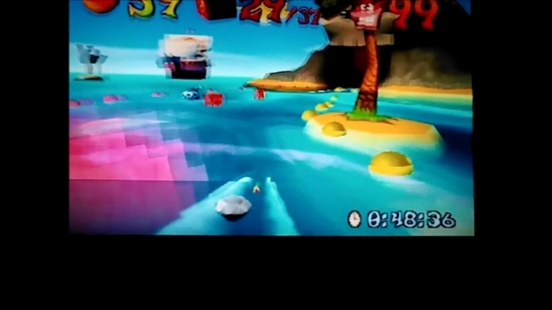 Crash Bandicoot 3:Warped(NTSC-J) Time Trial.Makin Waves. Old school