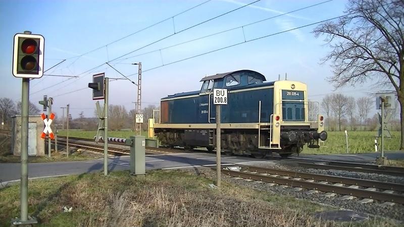 Spoorwegovergang Hamm (D) Railroad crossing Bahnübergang