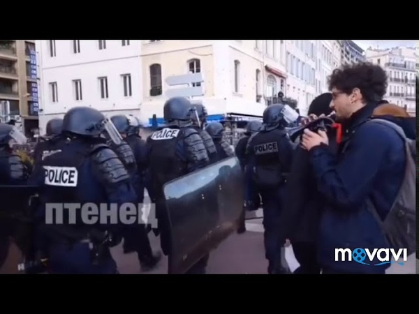 Затроллил полицию во Франции. Мелодия звездные войны )