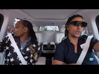 Snoop dogg and matthew mcconaughey cruising around, singing willie nelson