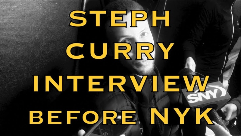 Entire STEPH CURRY QA MSG elevated that much more, tactfully deflects NYC nightlife question