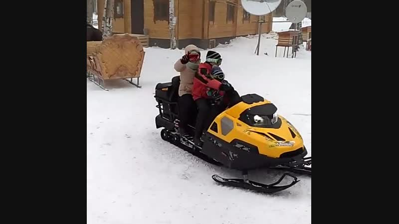 Прокат снегохода и квадроцикла.