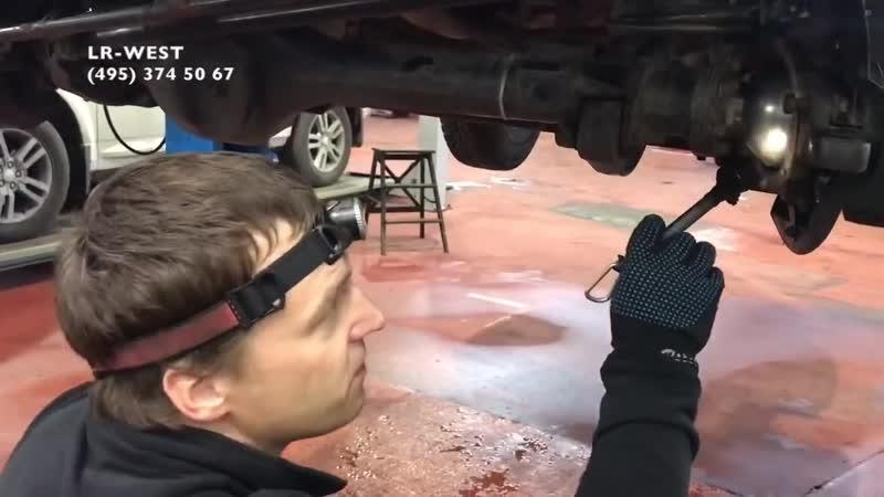 Ленд Ровер Дефендер особенности ремонта переднего моста и тормозного суппорта