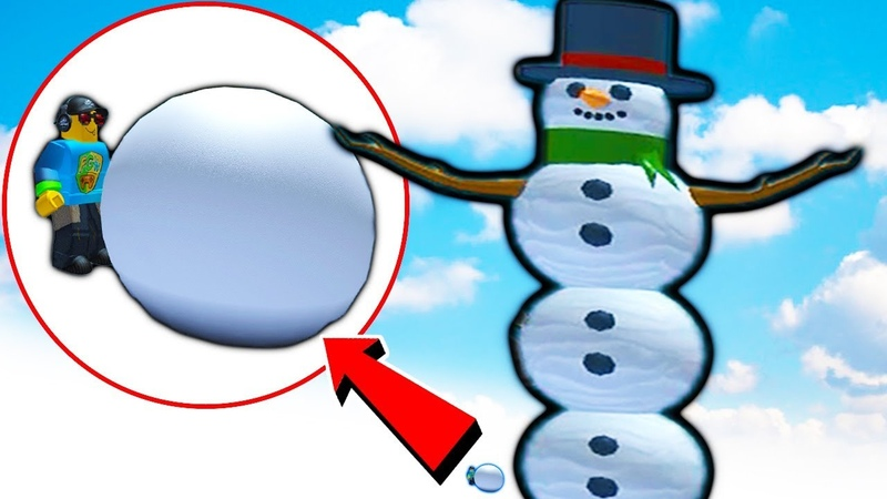 Roblox СЛЕПИЛ ГИГАНТСКОГО СНЕГОВИКА на НОВЫЙ ГОД в симуляторе снеговика Роблокс Snowman Simulator