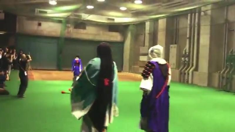 一軍ミュージカル刀剣乱舞とのコラボナイター始球式 とパフォーマンスに登場した 刀剣男士 たちのバックステージの模様が届きました - 巨人 ジャイアンツ 刀ミュ