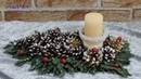 Dekoration für Weihnachten selber basteln Adventsgesteck selbst machen Einfach