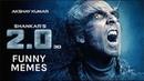 2.0 Ke Teaser Mein Rajinikanth Par Bhari Pade Akshay Kumar | Funny Memes