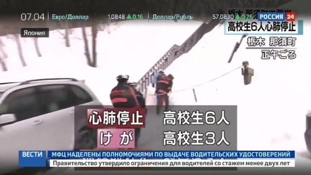 Новости на Россия 24 • Шестеро японских школьников погибли под лавиной