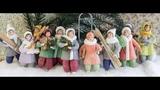 Ёлочные игрушки из ваты Вероники Подгорной, Spuncotton ornaments by Veronika Podgornaya