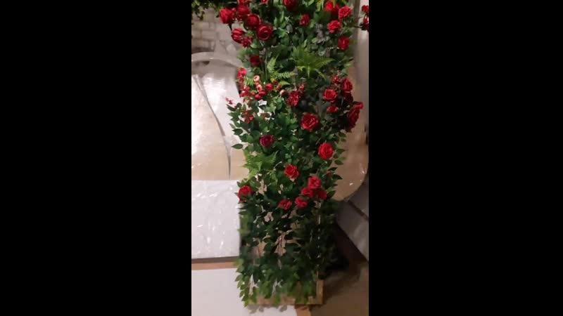 цветочная стена 3м одна секция