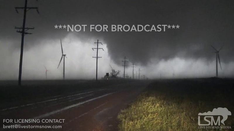 5 5 19 O'Donnell TX Multiple vortex tornado grows into one massive wedge tornado