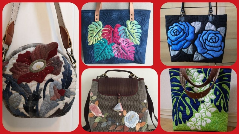 Beautiful latest stylish fabric handbag product paint applic work collection