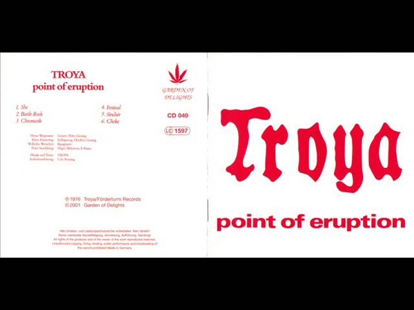 TROYA 1976 - Point of Eruption (FULL ALBUM) [Progressive rock]