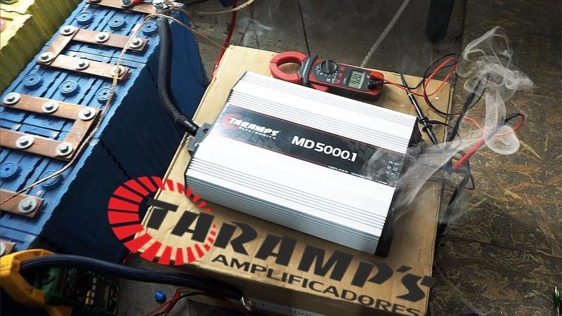 Спалили TARAMPS MD5000 и MD1800 при замере мощности