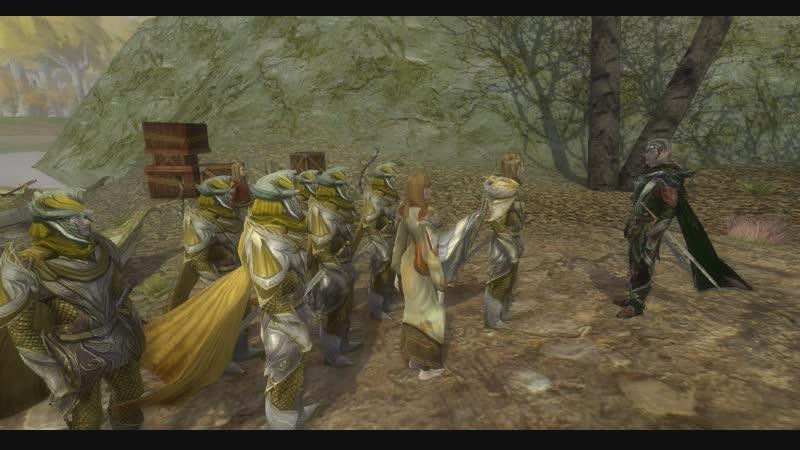 Келеборн и Галадриэль встречаются с Трандуилом