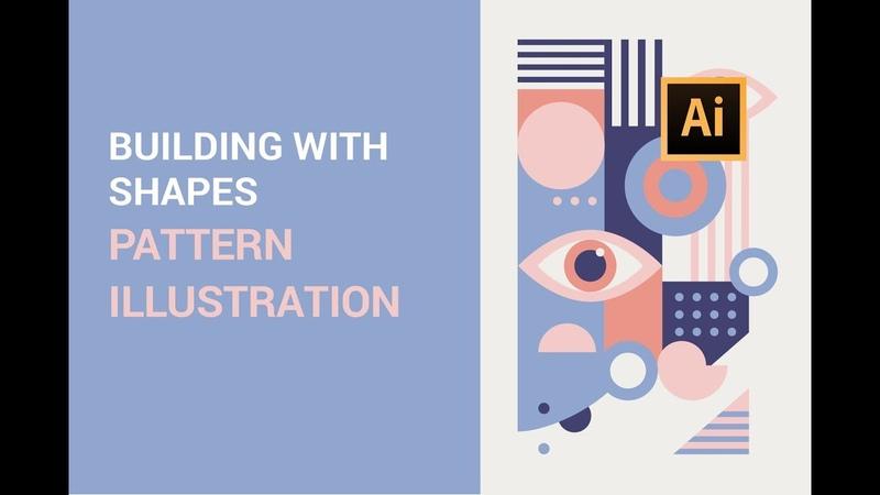 Easy Beginner Adobe Illustrator Tutorial Building with Shapes   Pattern Illustration Poster Design