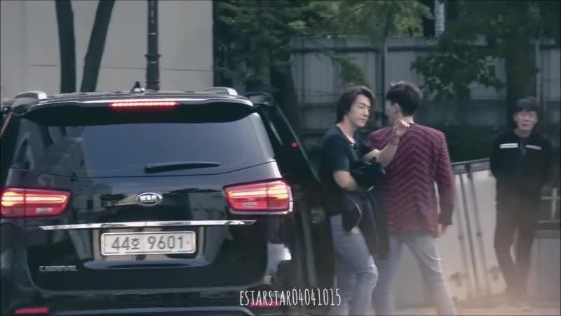 [181014 fancam] 인기가요 은혁 동해 출퇴근 (Inkigayo DE arriving, leaving)
