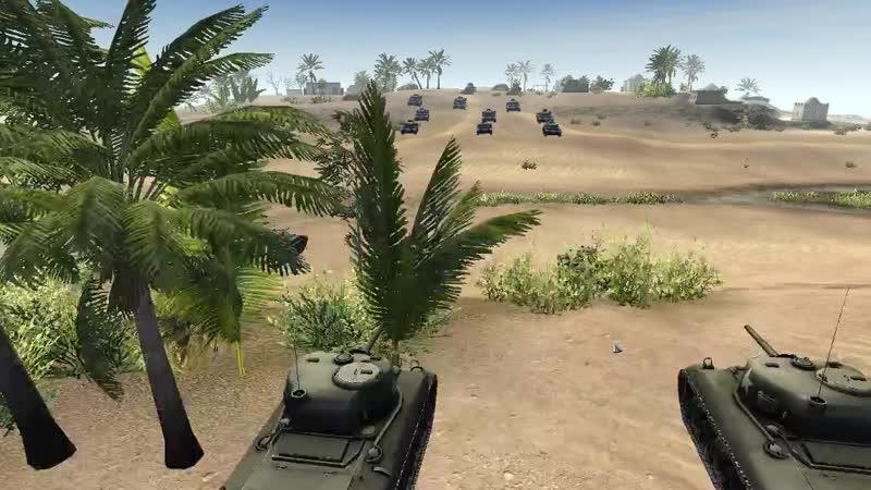 М4А1 и Красайдеры против Pz III и Flak 36