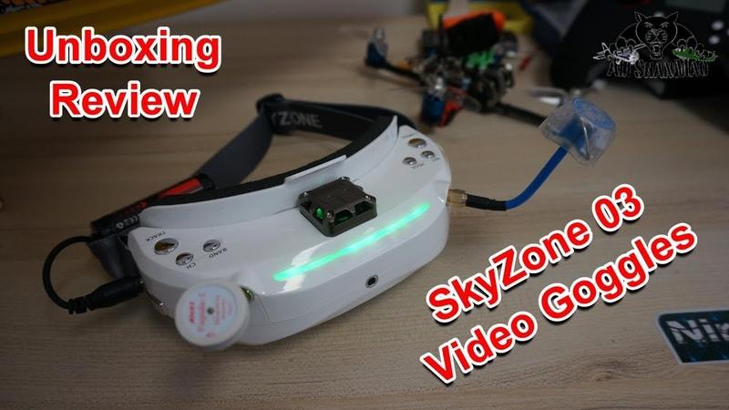 Skyzone SKY03 3D 5.8G 48CH Diversity Rx HDMI H.264 DVR FPV Goggles