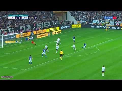 GOL DE ROBINHO! Corinthians 0 x 1 Cruzeiro - Copa do Brasil 2018